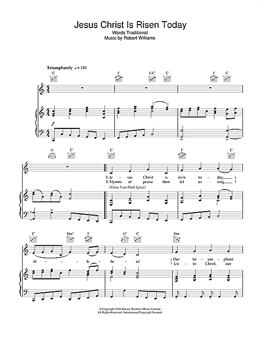 Jesus Christ Is Risen Today Sheet Music