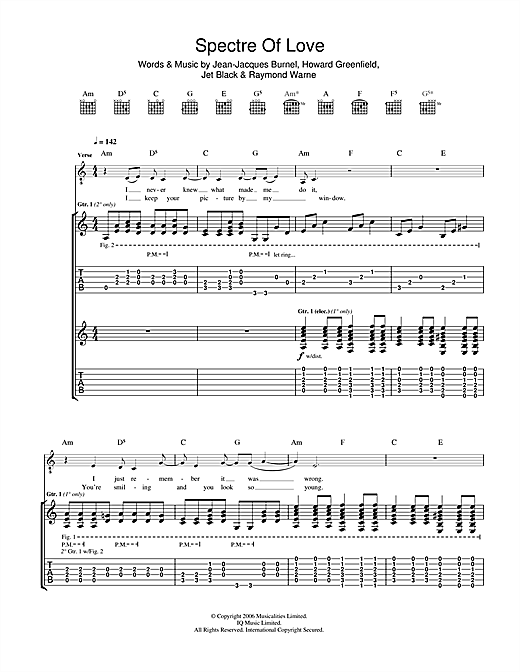 The Spectre Of Love Sheet Music