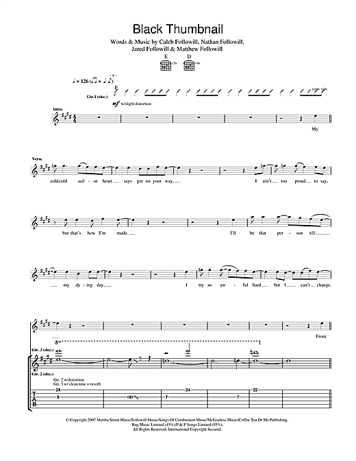 Black Thumbnail Sheet Music