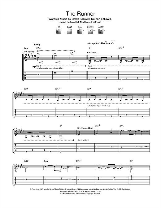 The Runner Sheet Music