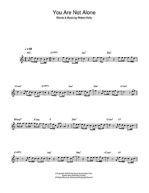 You Are Not Alone Sheet Music