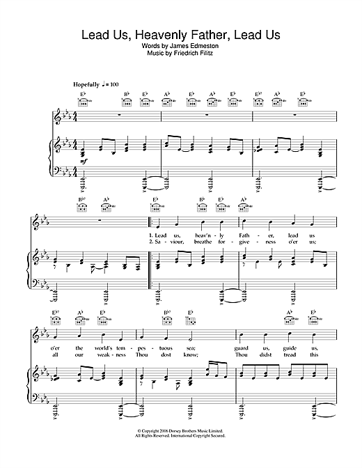 Lead Us Heavenly Father, Lead Us Sheet Music