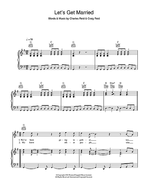 Let's Get Married Sheet Music
