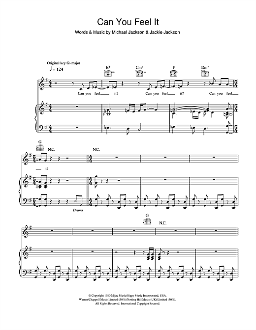 Can You Feel It Sheet Music