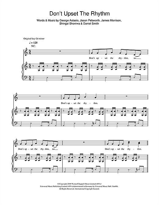 Don't Upset The Rhythm Sheet Music