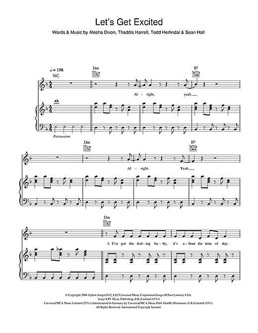 Let's Get Excited Sheet Music