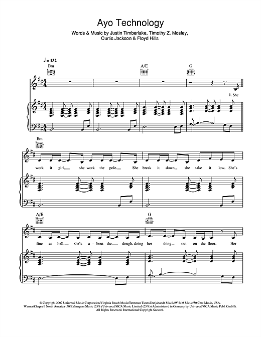 Ayo Technology Sheet Music