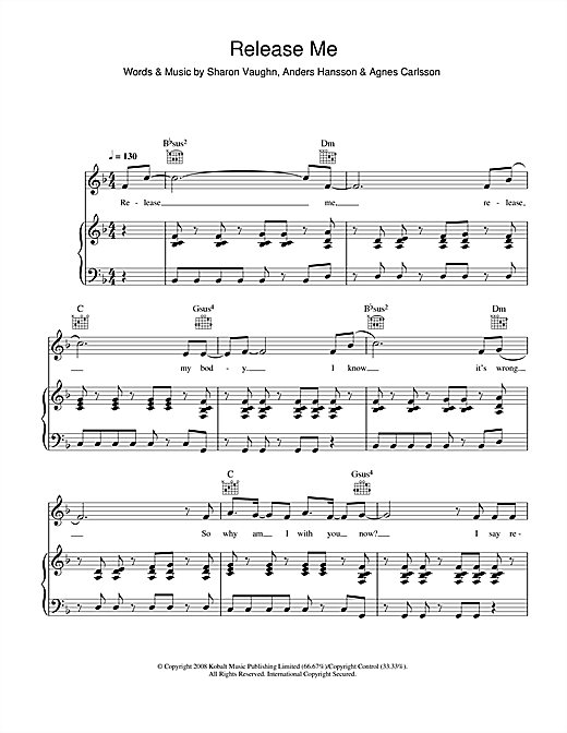 Release Me Sheet Music