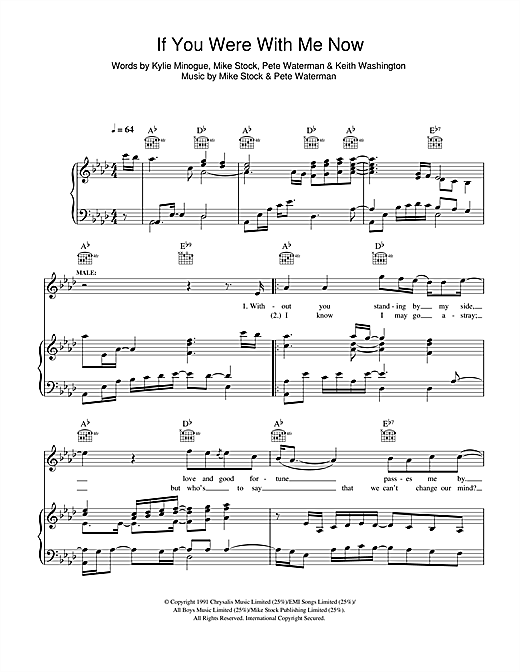 If You Were With Me Now Sheet Music
