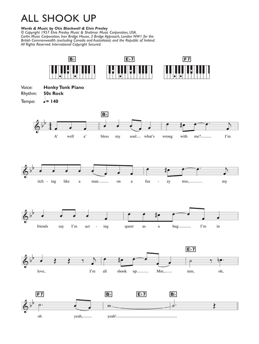 Sheet music All Shook Up (Piano Vocal and Guitar)