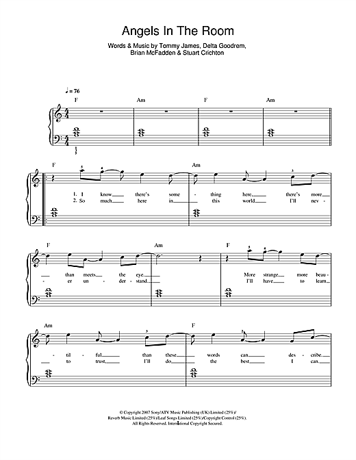 Angels In The Room Sheet Music
