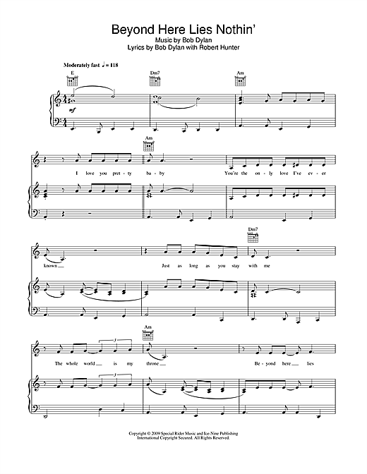 Beyond Here Lies Nothin' Sheet Music