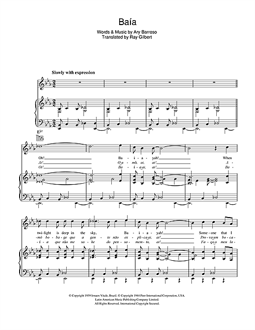 Baia Sheet Music