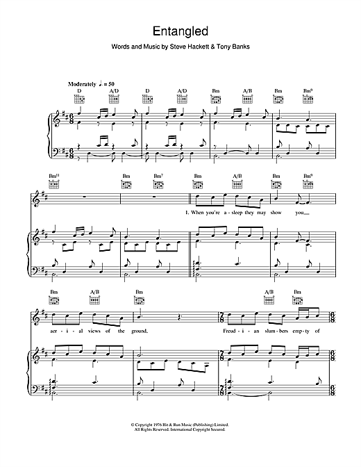 Entangled Sheet Music