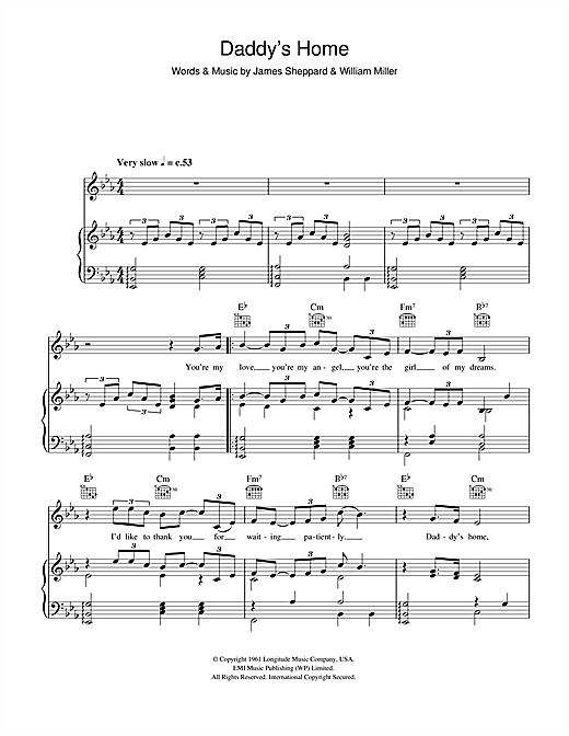 Daddy's Home Sheet Music