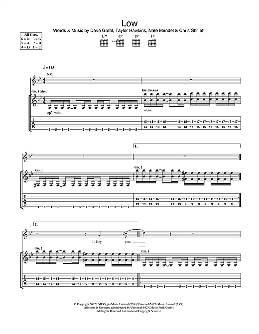 Low Sheet Music
