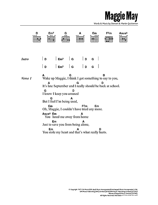 Mandolin mandolin tabs maggie may : Maggie May sheet music by Rod Stewart (Lyrics & Chords – 47905)