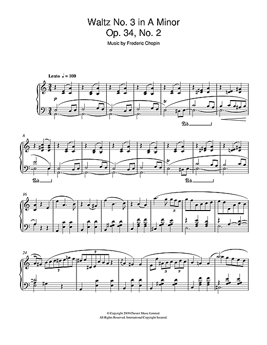 Waltz No.3 In A Minor, Op.34, No.2 Sheet Music