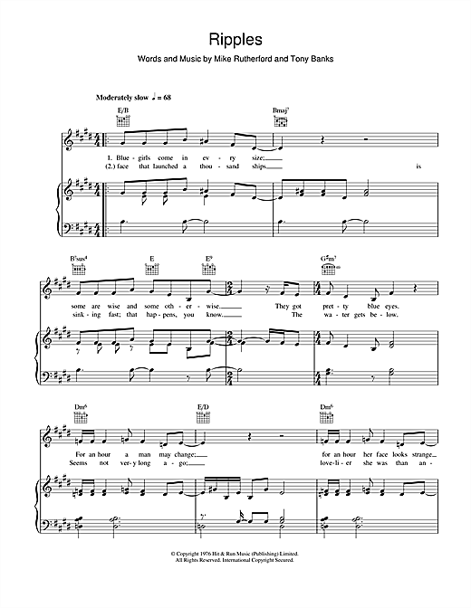 Ripples Sheet Music