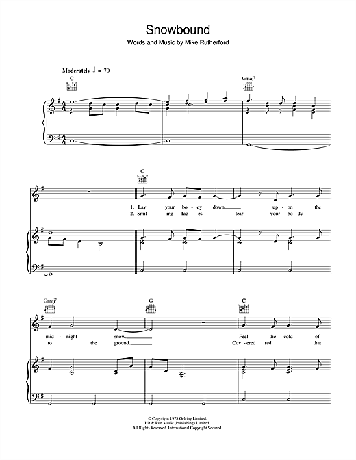 Snowbound Sheet Music