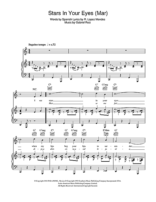 Stars In Your Eyes (Mar) Sheet Music
