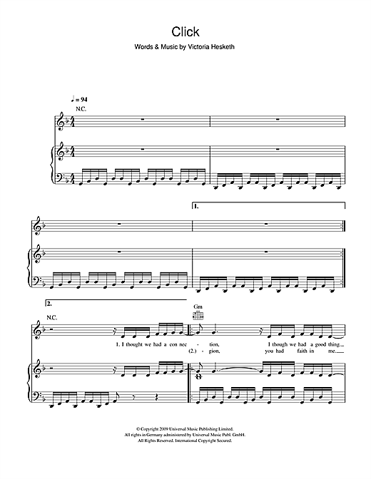 Click Sheet Music