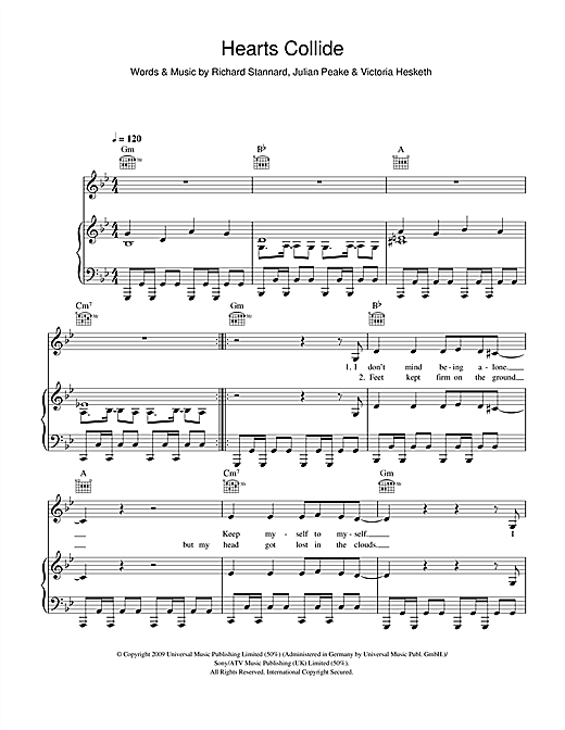 Hearts Collide Sheet Music