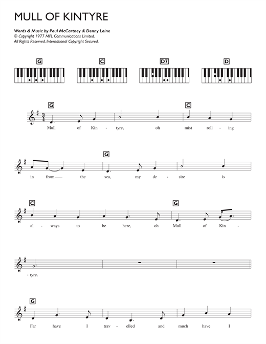 Mull Of Kintyre Sheet Music