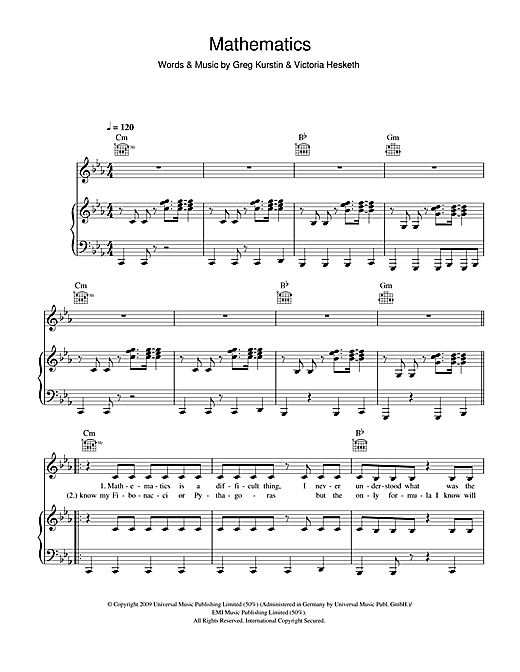 Mathematics Sheet Music
