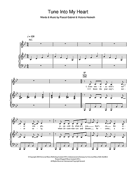 Tune Into My Heart Sheet Music