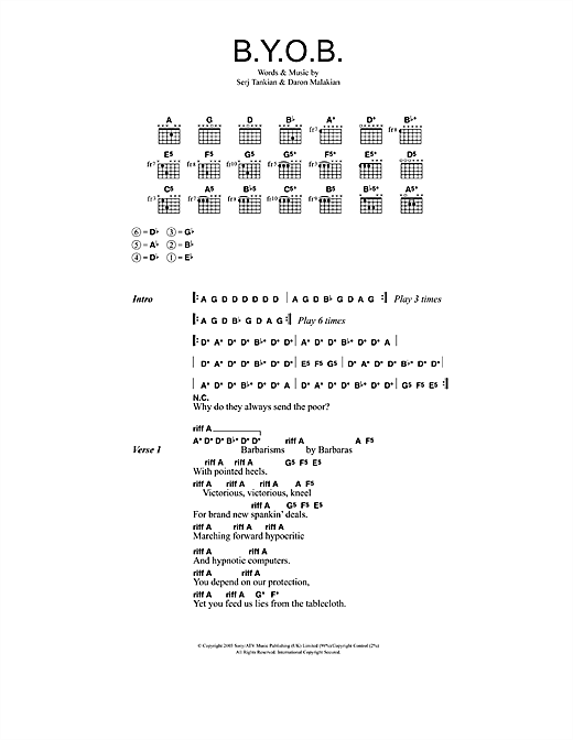Roulette soad chords