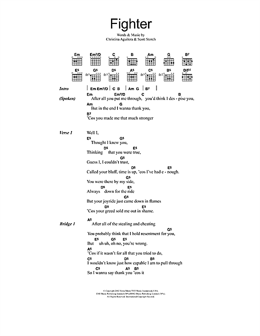 Fighter Sheet Music
