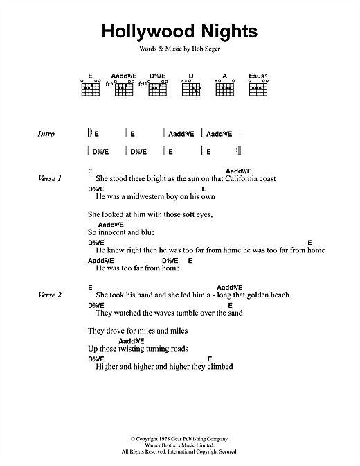 Bob Seger - Against The Wind (Chords,Tabs and lyrics ...