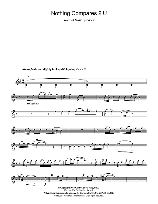 Nothing Compares 2 U Sheet Music