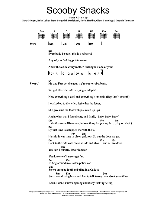 Scooby Snacks Sheet Music