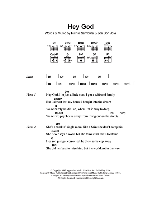 Hey God Sheet Music