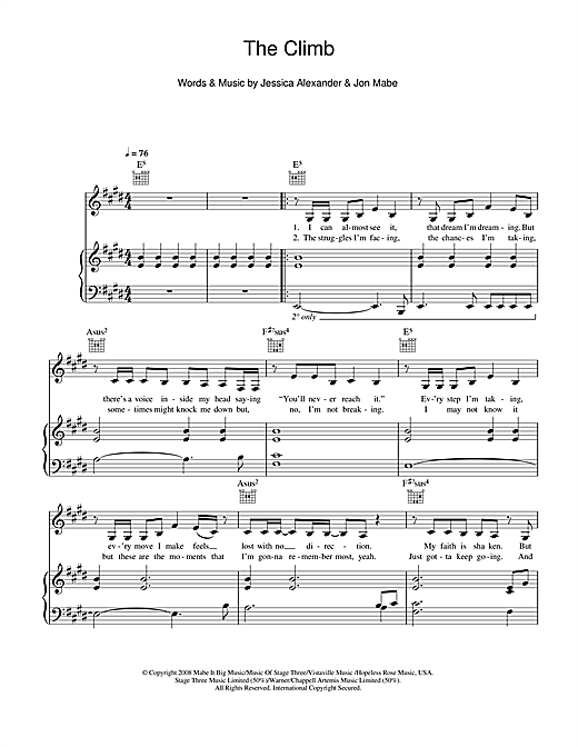 The Climb Sheet Music