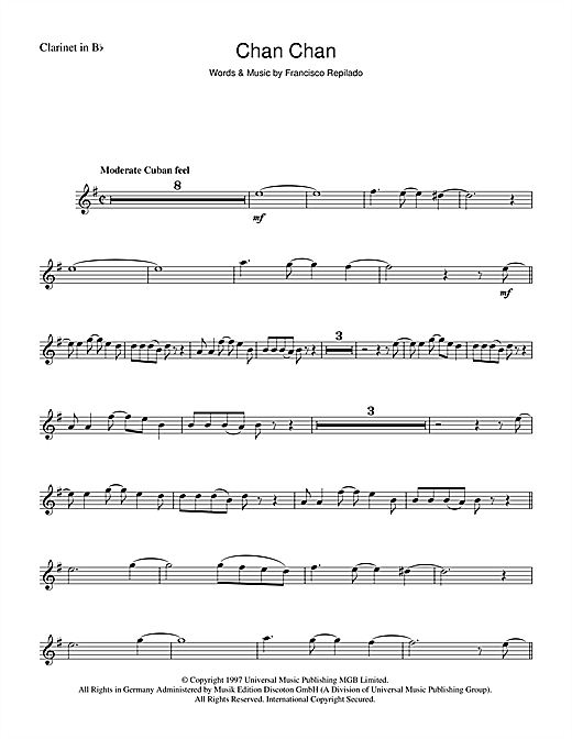 Chan Chan Sheet Music