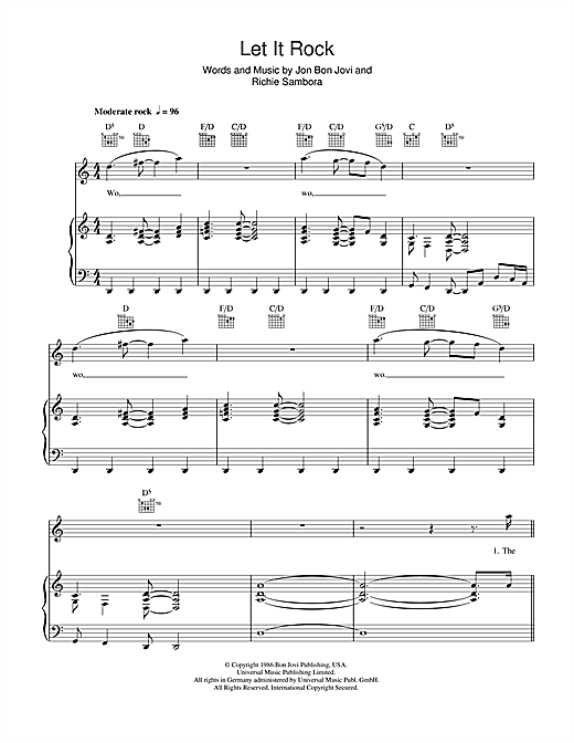 Let It Rock (Piano, Vocal & Guitar (Right-Hand Melody))