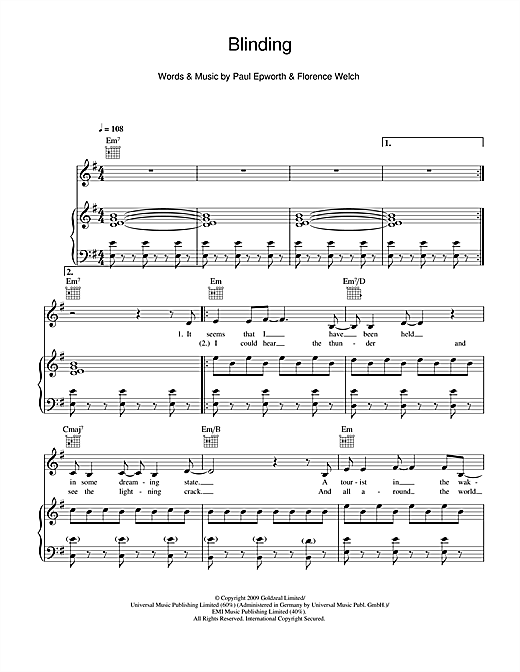 Blinding Sheet Music