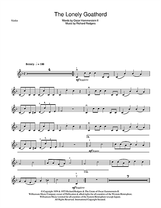 The Lonely Goatherd Sheet Music