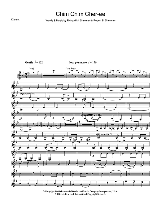 Chim Chim Cher-ee (from Mary Poppins) Sheet Music