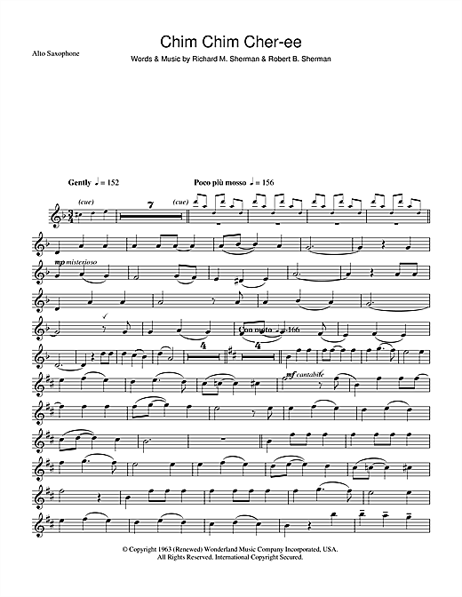 Chim Chim Cher-ee (from Mary Poppins) (Alto Sax Solo)