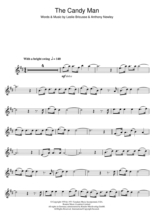 The Candy Man (from Willy Wonka And The Chocolate Factory) Sheet Music