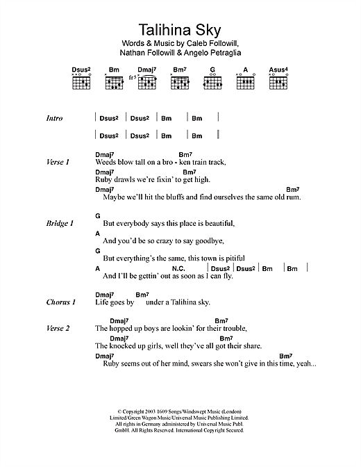 Talihina Sky Sheet Music