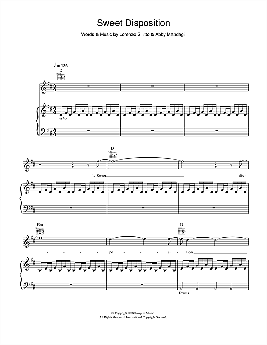 Sweet Disposition Sheet Music