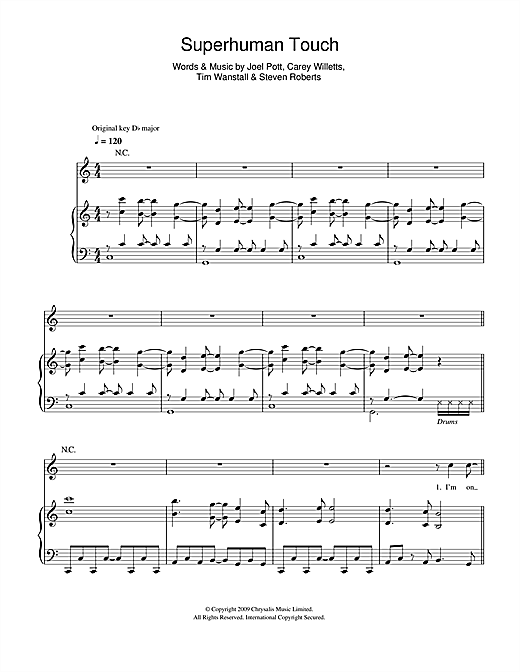 Superhuman Touch Sheet Music