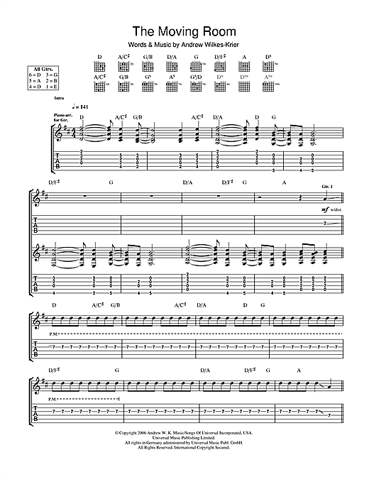 The Moving Room Sheet Music