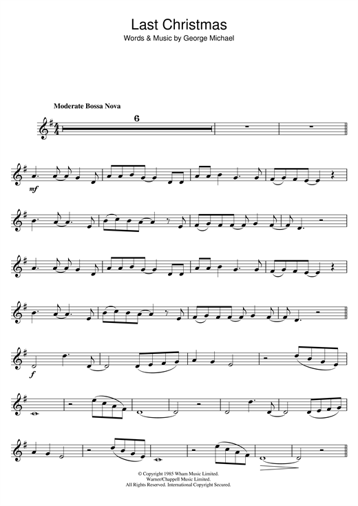 Last Christmas sheet music by Wham! (Trumpet – 48481)