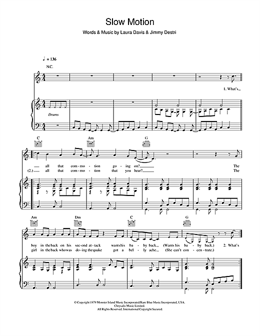 Slow Motion Sheet Music